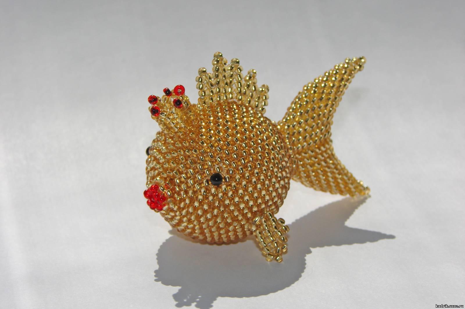 Как сделать золотую рыбку